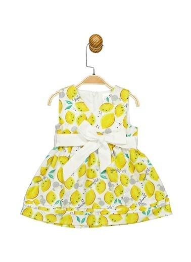 Minnie Mouse Lisanslı Bebek Elbise 17352 Sarı